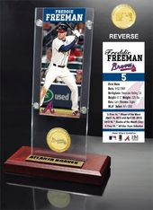 Baseball - Freddie Freeman Ticket & Bronze Coin