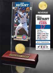 Baseball - Kris Bryant Ticket & Bronze Coin