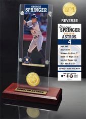 Baseball - George Springer Ticket & Bronze Coin