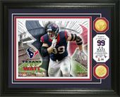 Football - J.J. Watt Bronze Coin Photo Mint