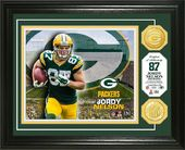Football - Jordy Nelson Bronze Coin Photo Mint
