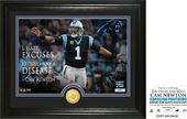 "Football - Cam Newton ""Quote"" Bronze Coin Photo"