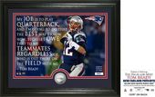 "Football - Tom Brady ""Quote"" Silver Coin Photo"