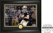 "Football - Drew Brees ""Quote"" Bronze Coin Photo"