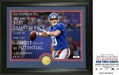 "Football - Eli Manning ""Quote"" Bronze Coin Photo"