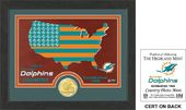 "Football - Miami Dolphins ""Country"" Bronze Coin"