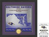 "Football - Baltimore Ravens ""State"" Bronze Coin"