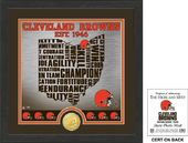 "Football - Cleveland Browns ""State"" Bronze Coin"
