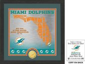 "Football - Miami Dolphins ""State"" Bronze Coin"