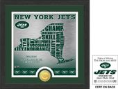 "Football - New York Jets ""State"" Bronze Coin"