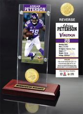 Football - Adrian Peterson Ticket & Bronze Coin