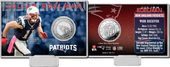 Football - Julian Edelman Silver Coin Card