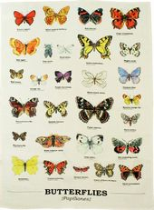 Butterflies - Tea Towel