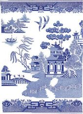 Blue Willow - Tea Towel