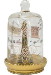 Eiffel Tower - Ring Dome Gold Set of 2