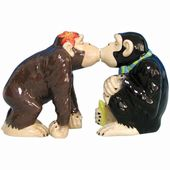 Chimp Kiss - Salt & Pepper Shakers