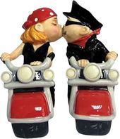 Biker Couple - Salt & Pepper Shakers