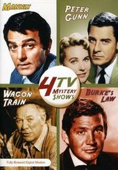4 TV Mystery Shows (Mannix / Peter Gunn / Wagon