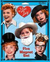 I Love Lucy - Faces - 5-Piece Magnet Set