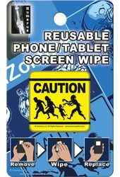 Zombie Caution - Phone/Tablet Screen Wipe