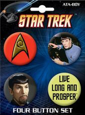 Star Trek - Spock Carded 4 Button Set