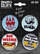 David & Goliath - Carded 4 Button Set #13
