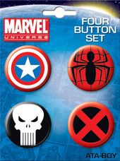 Marvel Comics - Carded 4 Button Set # 3