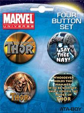 Marvel Comics - Mighty Thor Carded 4 Button Set