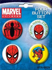 LMTD: Marvel Comics - Spiderman Carded 4 Button