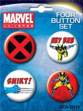 Marvel Comics - Wolverine Carded 4 Button Set