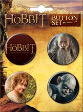 The Hobbit 4-Button Set #1