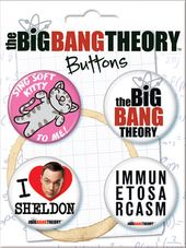 The Big Bang Theory - Carded 4 Button Set (Set 2)