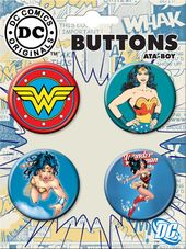 DC Comics - Wonder Woman - 4-Piece Round Button