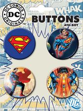 DC Comics - Superman - 4-Piece Round Button Set