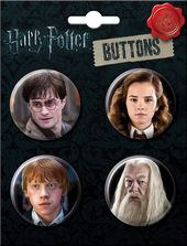 Harry Potter - Characters - 4-Piece Round Button