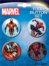 Marvel Comics - Avengers Carded 4 Button Set # 6