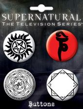 Supernatural - Runes: 4-Piece carded Button Set