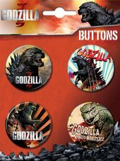 Godzilla - 4-Piece Round Button Set