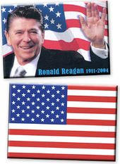Patriotic Magnet Set - Ronald Reagan / American