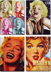 Marilyn Monroe - Set of 4 Magnets (Set 1)