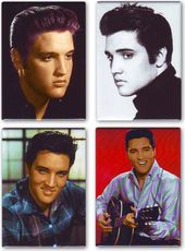 Elvis Presley - Faces - 4-Piece Magnet Set
