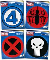 Marvel Comics - Set of 5 Logo Stickers