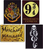 Harry Potter - 4-Piece Magnet Set