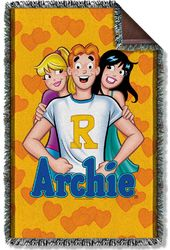 Archie Comics - Love Triangle Woven Throw