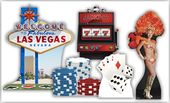 Vegas Party Theme Set - Cardboard Cutouts