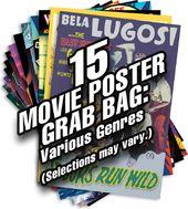 15 Movie Poster Grab Bag (Small): Various Genres