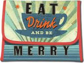 Eat Drink and Be Merry Foldover Pouch - Bag