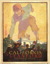 College Football - Cal vs Stanford - 1923 Poster
