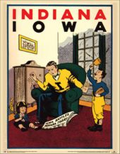College Football - Iowa vs Indiana - 1931 Poster