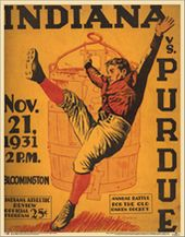 College Football - Indiana vs Purdue - 1931 Poster